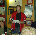 "Michael Hiebert reading from his book, ""Dream with Little Angels"""