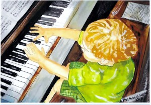 PIANIST by author/artist, Ben Nuttall-Smith.
