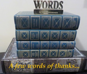 A Few Words of Thanks