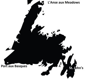 Newfoundland equilateral triangle